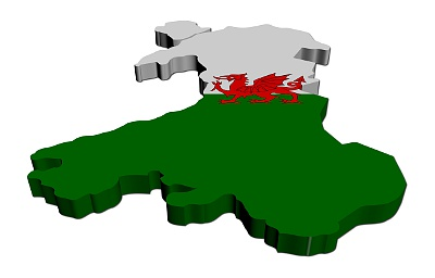 Wales dogging 3d flag